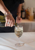 Bartender pouring wine Stock Photos