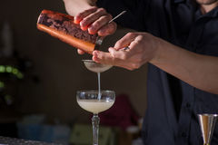 Bartender prepares a cocktail Royalty Free Stock Photo