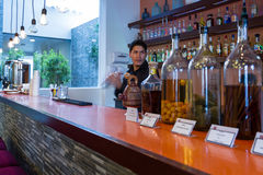 Bartender preparing a cocktail Stock Image
