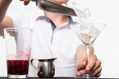 Bartender preparing coctail Royalty Free Stock Images