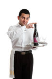 Bartender recommending wine Royalty Free Stock Photography