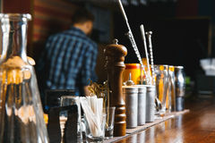 Bartender tools on bar Royalty Free Stock Images