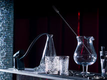 Bartender tools at the club royalty free stock photography