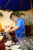 Bartender at work Stock Images