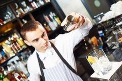 Bartender work at bar Royalty Free Stock Image