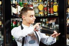Bartender work at bar Stock Photography