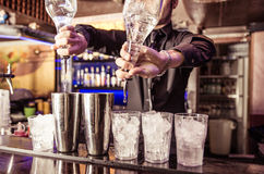 Bartender at work Royalty Free Stock Image