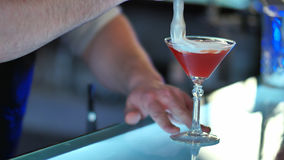 Bartenderportioncoctail Fotografering för Bildbyråer