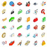 Barter icons set, isometric style. Barter icons set. Isometric set of 36 barter vector icons for web isolated on white background Royalty Free Stock Photography