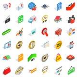 Barter trade icons set, isometric style. Barter trade icons set. Isometric set of 36 barter trade vector icons for web  on white background Stock Images