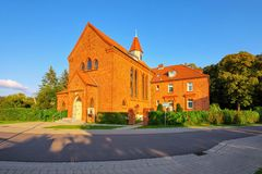 Barth church Saint Maria, an old town on the Bodden. In Germany royalty free stock photography