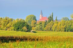 Barth landscape and church, an old town in Germany. Barth landscape and church, an old town on the Bodden in Germany royalty free stock images