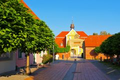 Barth monastery, an old town on the Bodden. In Germany royalty free stock image