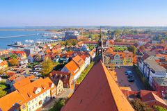 Barth, an old town on the Bodden. In Germany stock images