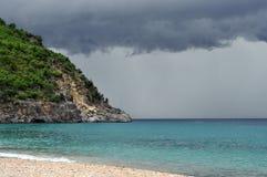 barth plaży skorupy st burzowy Zdjęcia Royalty Free