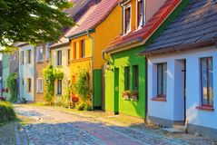 Barth typical old street, an old town on the Bodden. In Germany royalty free stock images