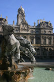 Bartholdi fountain in Lyon Stock Photo