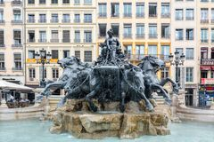 Bartholdi fountain in Lyon