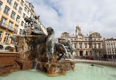 Bartholdi Fountain, Lyon Stock Images