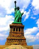 Bartholdi's work of art. Stature of Liberty NYC Stock Photography
