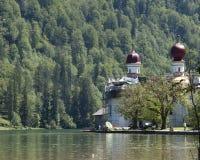 Bartholoma church. Hiking through the Bavarian Alps of Southern Germany Stock Photography