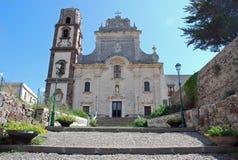 bartholomew大教堂意大利lipari s st 库存图片