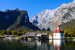 bartholomew berchtesgaden kyrklig s-st fotografering för bildbyråer