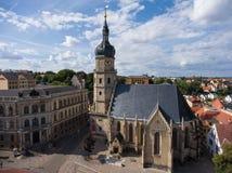 Bartholomew church Altenburg medieval town aerial view Royalty Free Stock Images