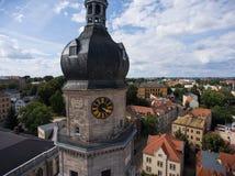 Bartholomew church Altenburg medieval town aerial view Royalty Free Stock Photo