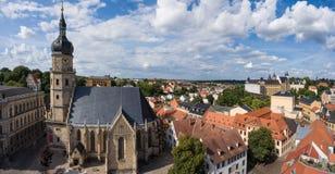 Bartholomew church Altenburg medieval town aerial view Stock Photography