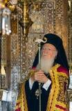 Bartholomew I, Ecumenical Patriarch of Constantinople. ISTANBUL, TURKEY - DECEMBER 30: Patriarch Bartholomew I, Ecumenical Patriarch of Constantinople, attends stock photo