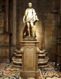Bartholomew Statue Inside Milan Cathedral royaltyfria bilder