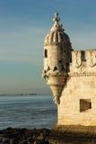 Bartizan ή Guerite. Πύργος του Βηθλεέμ. Λισσαβώνα. Πορτογαλία στοκ φωτογραφίες