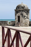 Bartizan of Cartagena's wall. Colombia Stock Photography