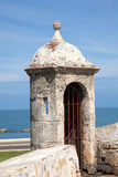 Bartizan of Cartagena's wall. Colombia Royalty Free Stock Images