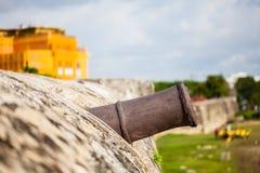 Bartizan of Cartagena's wall. Colombia Stock Image