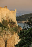 Bartizan and city walls. Dubrovnik. Croatia Royalty Free Stock Photos