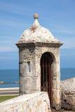 Bartizan de la pared de Cartagena Imágenes de archivo libres de regalías