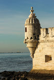 Bartizan or Guerite. Belem Tower. Lisbon. Portugal Stock Photos