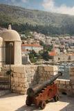 Bartizan and the old port. Dubrovnik. Croatia Stock Photos