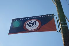 Bartlett Celebrates 150 years sign. Stock Image