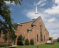 Bartlett drewien kościół Chrystus Bartlett, TN Zdjęcie Royalty Free