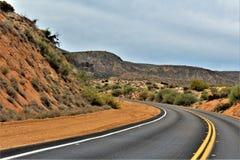 Bartlett Lake behållare, Maricopa County, tillstånd av Arizona, scenisk landskapsikt för Förenta staterna Royaltyfri Foto