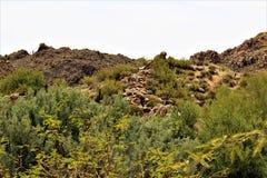 Bartlett Lake-Reservoir, szenische Landschaftsansicht Maricopa County, Staat Arizona, Vereinigte Staaten Stockfotografie