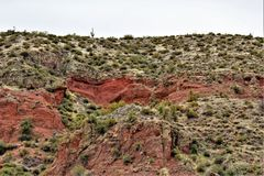 Bartlett Lake-Reservoir, szenische Landschaftsansicht Maricopa County, Staat Arizona, Vereinigte Staaten Lizenzfreies Stockfoto