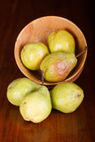 Bartlett Pears and Bowl Royalty Free Stock Photos