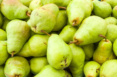 Bartlett pears on display Royalty Free Stock Photography