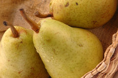 Bartlett pears horizontal Royalty Free Stock Images