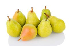 Bartlett Pears on White Stock Photography