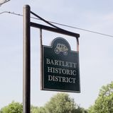 Bartlett Tennessee Historic District Sign Stock Photography